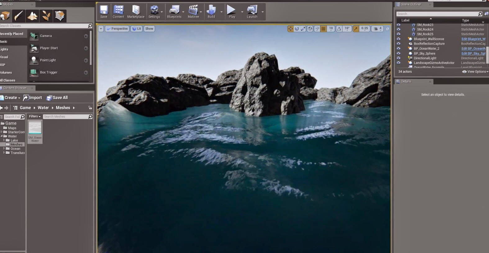 Water Surface Overview in Unreal Engine 4 | CG TUTORIAL