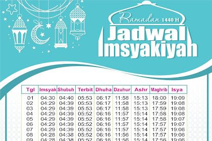 Jadwal Imsyakiyah terbaru Vektor 2019  Free Download