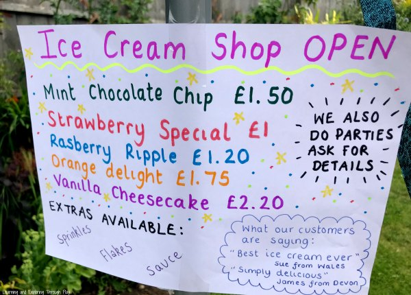 Ice Cream Sensory Role Play