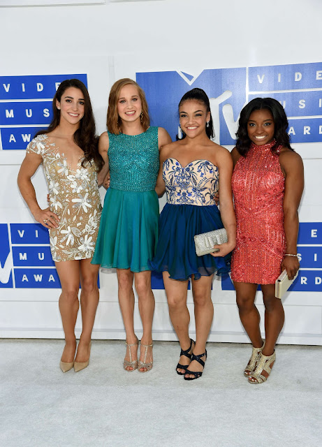 Aly Raisman, Madison Kocian, Laurie Hernandez and Simone Biles – 2016 MTV Video Music Awards in New York City