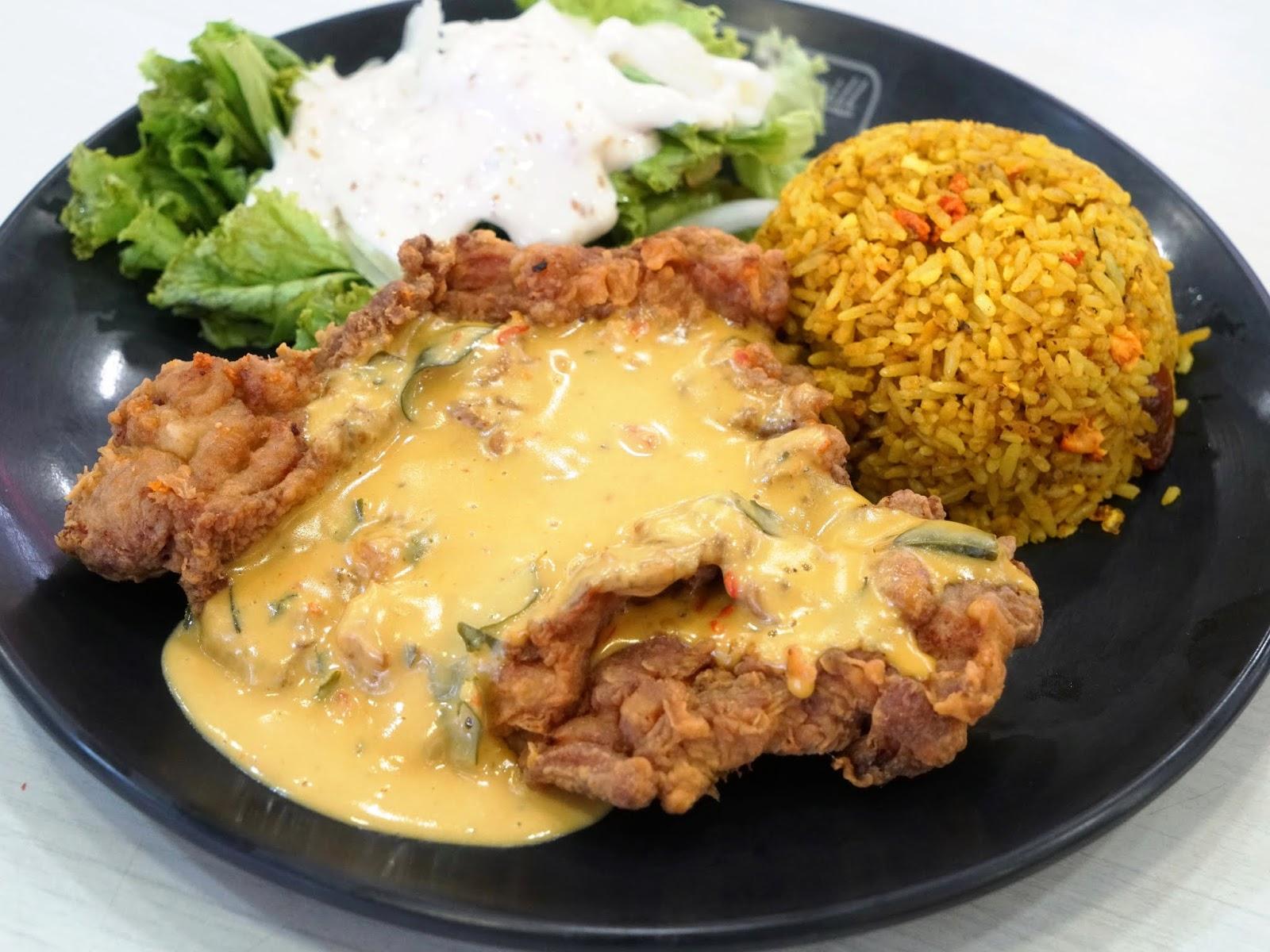 PinkyPiggu: BEST Salted Egg Rice In Singapore! Chicken, Pork