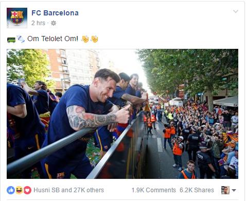 FC Barcelona telolet