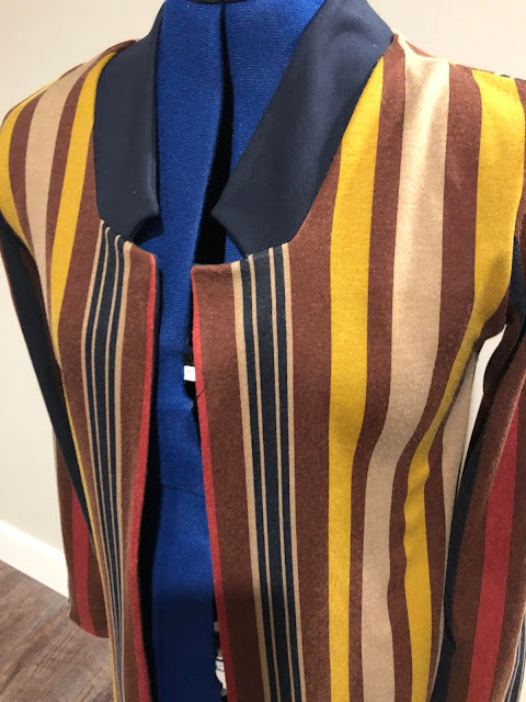 Fulton Sweater Blazer made with Mood Fabrics' stripe jersey