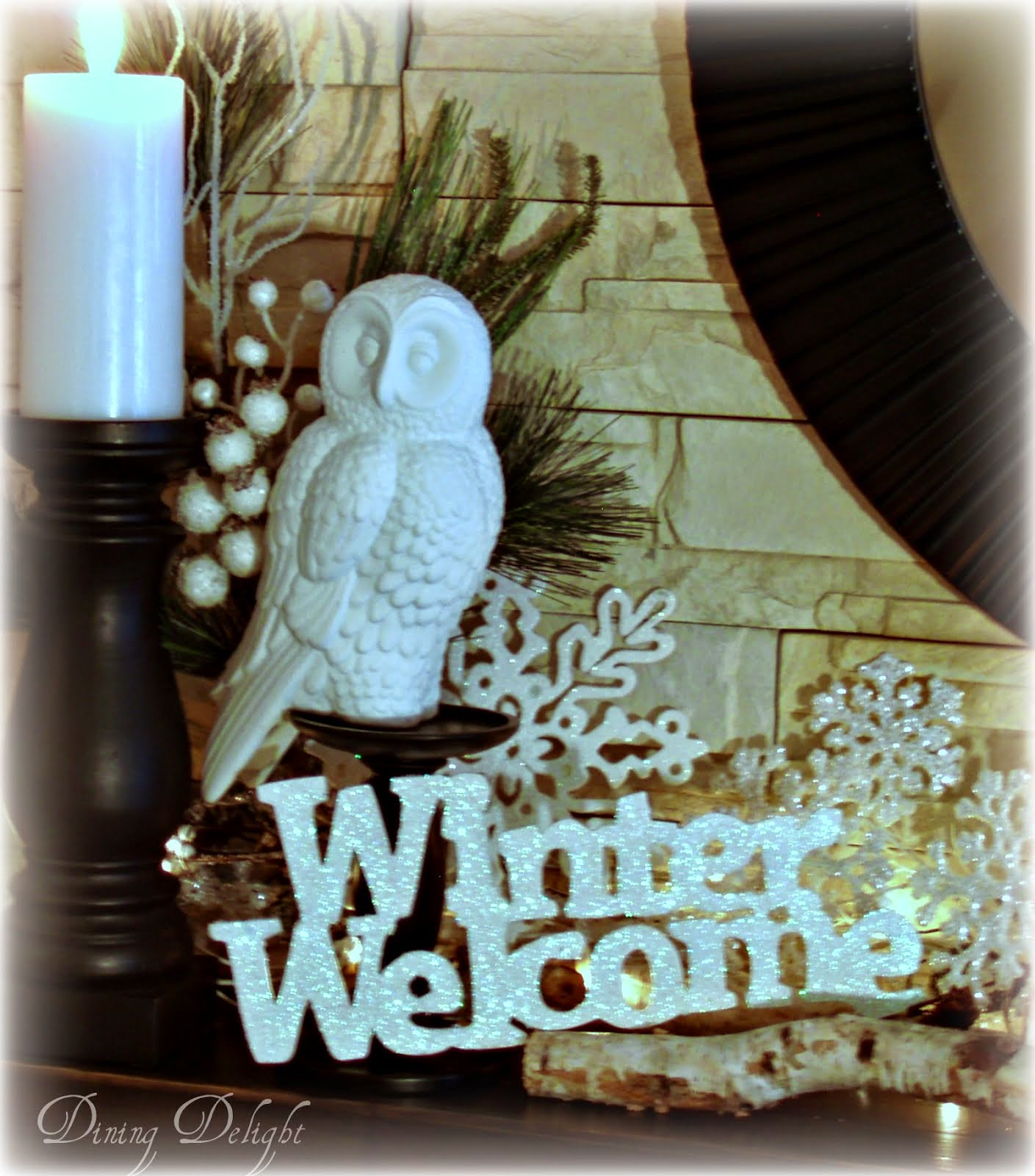 A Winter Welcome Mantel