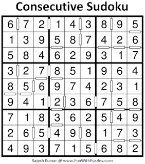 Answer of Consecutive Sudoku Puzzle (Fun With Sudoku #316)