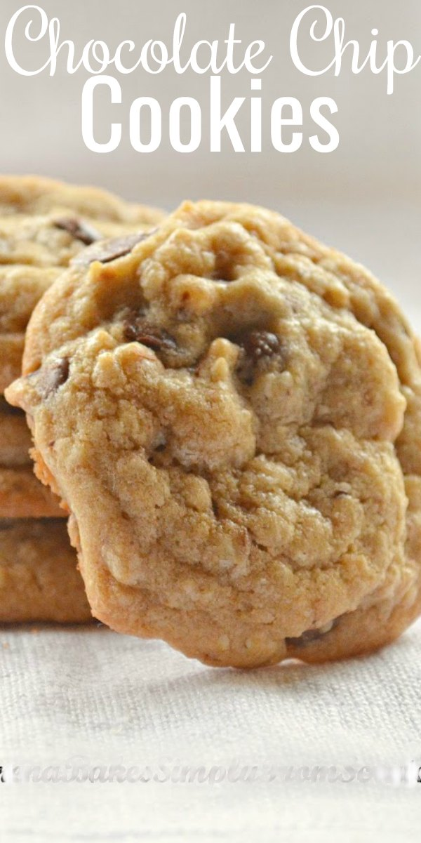 Best Chocolate Chip Cookie Recipe has brown butter with a delicious toffee like tasty, soft chewy center and crispy edge from Serena Bakes Simply From Scratch.