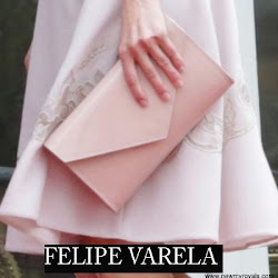 Queen Letizia Style FELIPE VARELA Clutch Bag and HUGO BOSS Dress