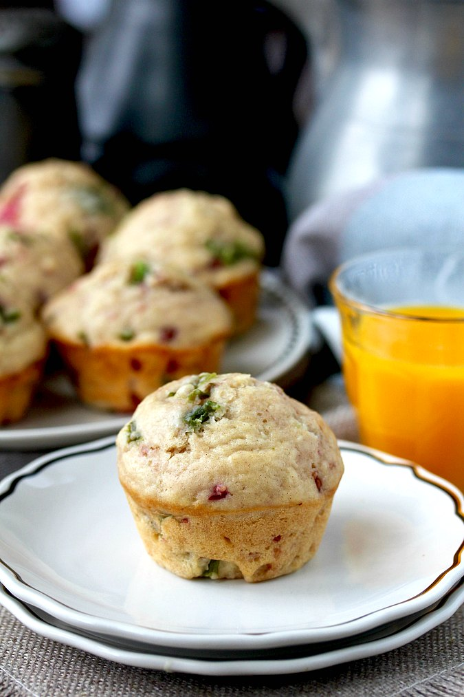 Roasted Chile and Raspberry Muffins