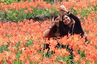 Aksi ababil yang selfie koplaknya bikin geram  netizen