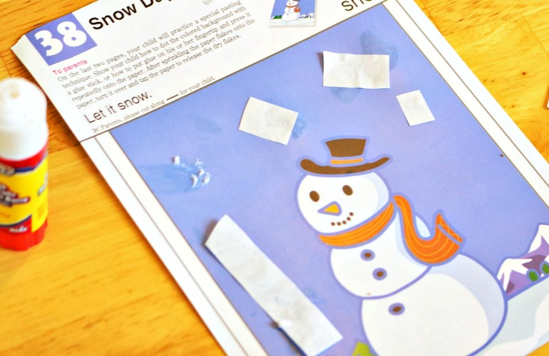 winter day cut and paste activity
