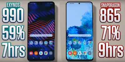 Snapdragon vs Exynos on Samsung S20 Ultra