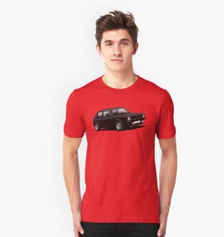 Redbubble Volkswagen Golf GTI Mk1 t-shirts black