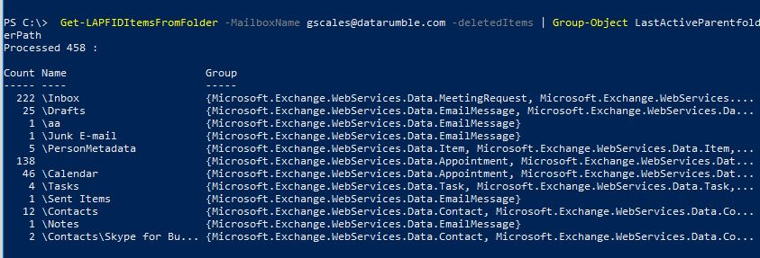 Glen's Exchange and Office 365 Dev Blog: Using the LAPFID (Last