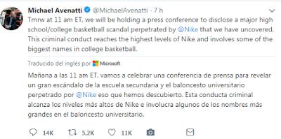 Michael Avenatti acusado de intentar extorsionar a Nike por $25M