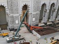 Crane Kembali Ambruk di Masjidil Haram Mekkah, Tak Ada Korban Jiwa