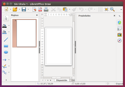 LibreOffice Draw abierto
