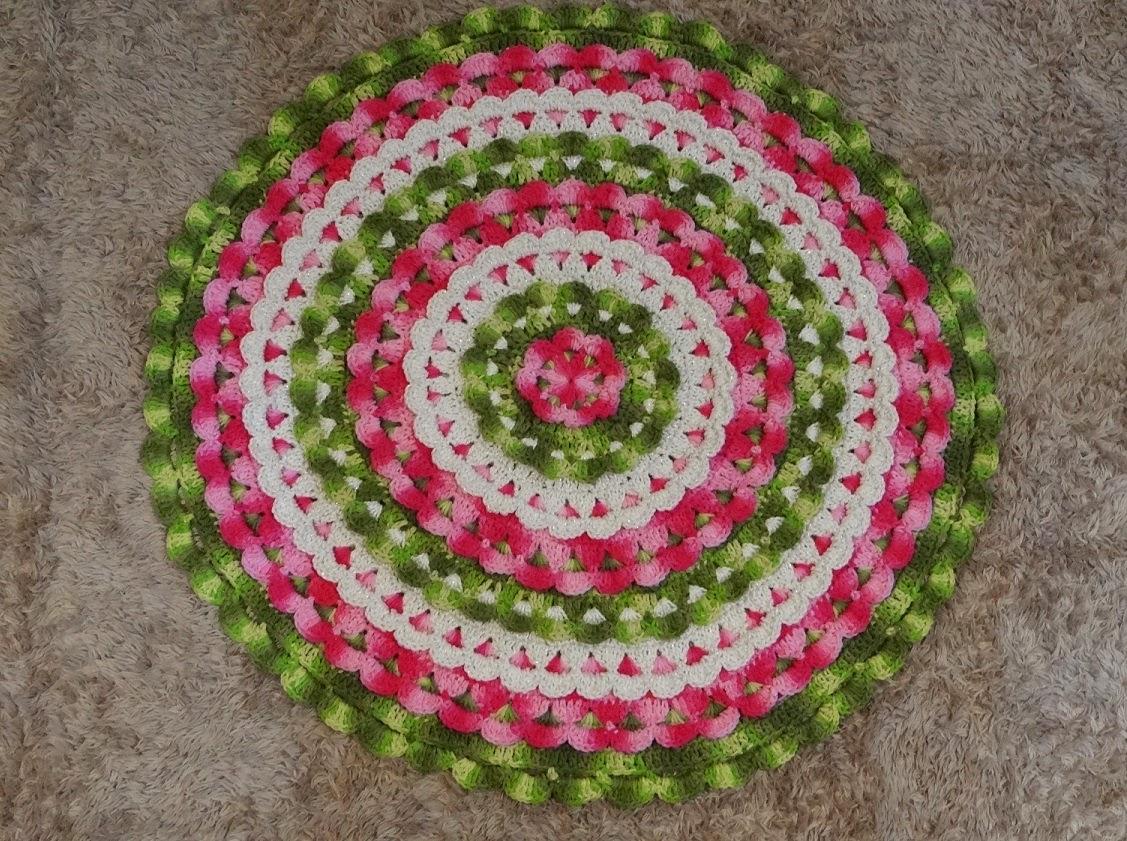 Toda Moderna Tapete Redondo De Croch Rendado Receita -> Tapete De Croche Redondo Passo A Passo
