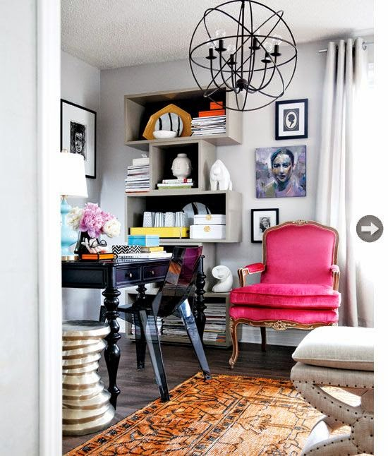 20 Inspiring Home Office Design Ideas For Small Spaces: INSPIRED DESIGN: Work It! Inspiring Home Office Spaces