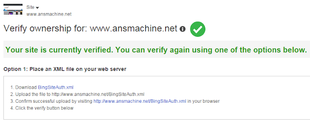 Verify Submit Blogger Sitemap to Bing Search Engine in 2016