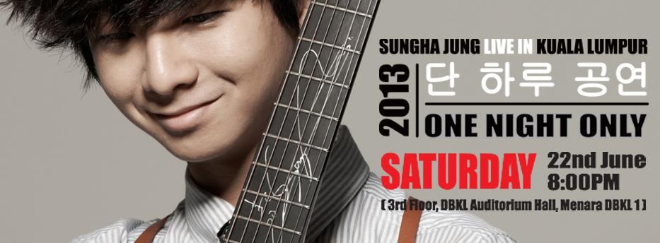 Colene Hyori's K-Blog: Sungha Jung One Night Only Live in