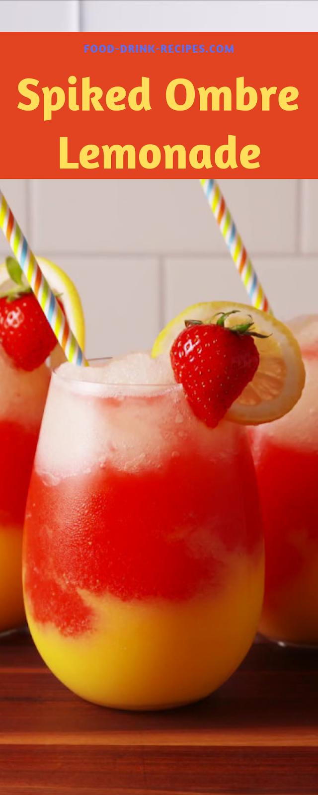 Spiked Ombre Lemonade - food-drink-recipes.com