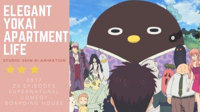 click here to read anime review post for elegant yokai apartment life 2017