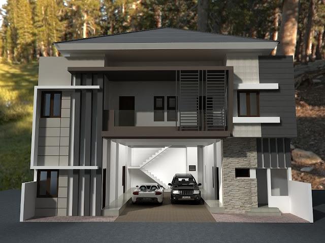 Desain Rumah Kost Bentuk U