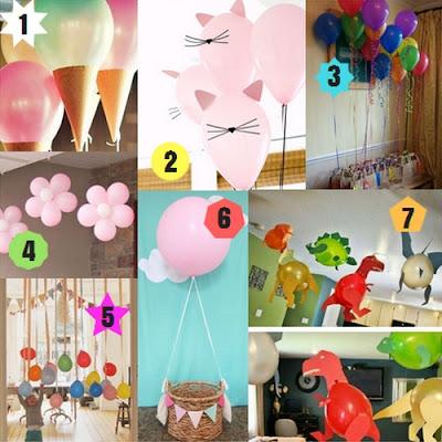 7 pomysłów na dekoracje z balonów na urodzinki