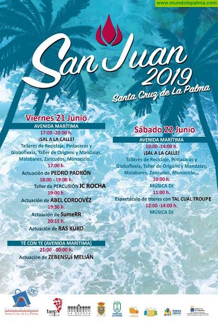 Casco Histórico de Santa Cruz de La Palma organiza un programa de actividades para el día de San Juan
