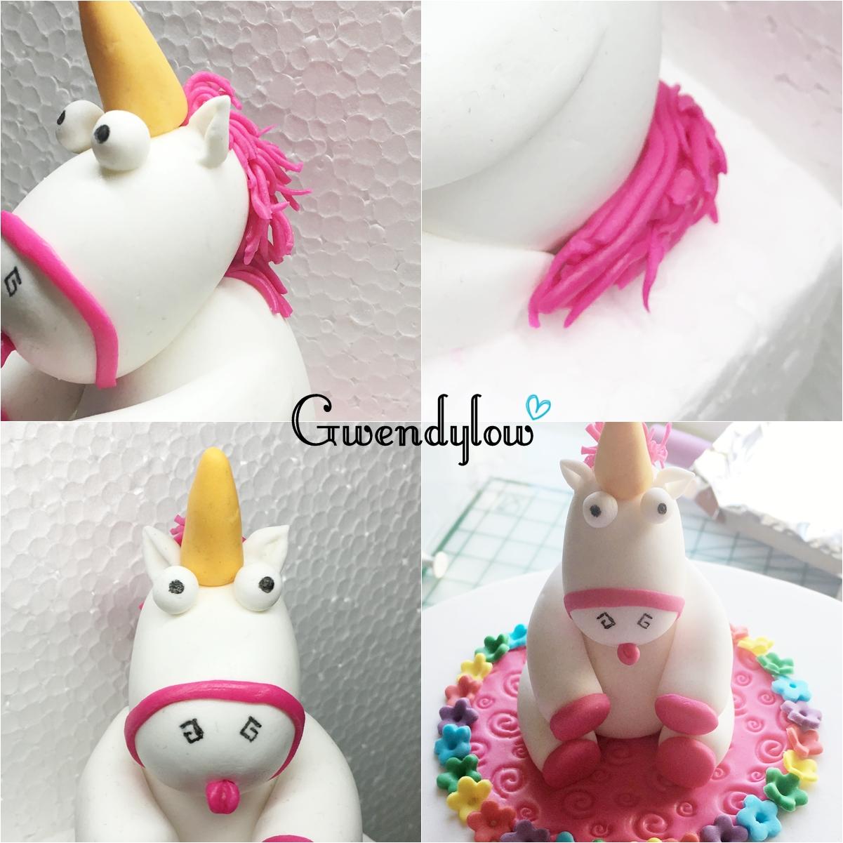 Amigurumi Unicornio Mi Villano Favorito : Como hacer un unicornio de fondant - Inspirado en Gru Mi ...
