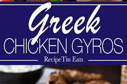 Greek Chicken Gyros with Tzaziki