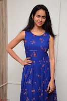 Pallavi Dora Actress in Sleeveless Blue Short dress at Prema Entha Madhuram Priyuraalu Antha Katinam teaser launch 044.jpg