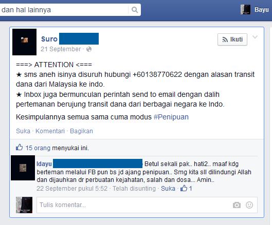 gambar informasi terkait modus penipuan