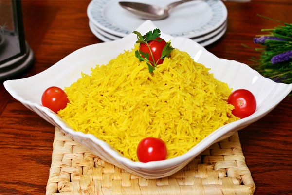 طريقة عمل أرز بسمتى بالكركم