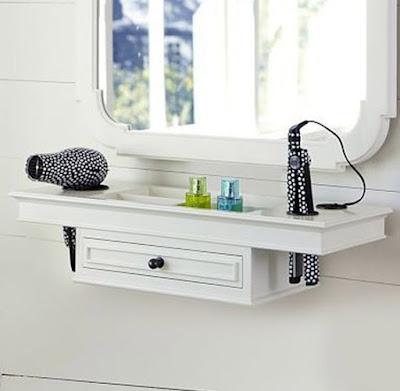wall mounted white small dressing table ideas for small bedroom interiors