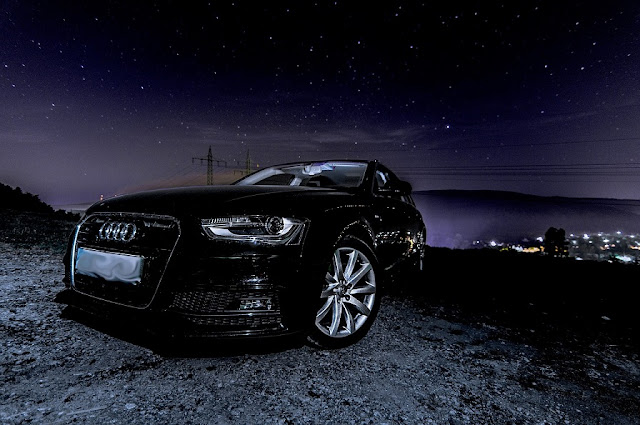 Audi-A4-Black-Night-Time
