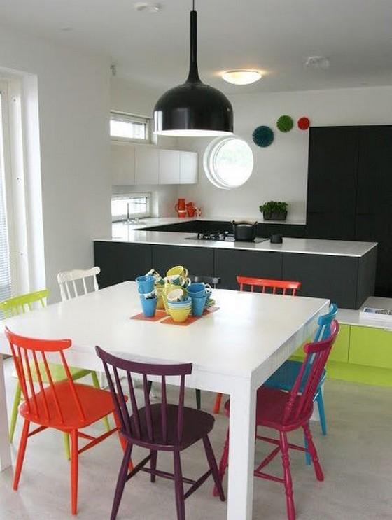 salas de jantar com cadeiras coloridas : ... um Beijo: 35 Inspira??es de Salas de Jantar com cadeiras coloridas