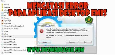 Mengatasi Error Pada Aplikasi Desktop EMIS
