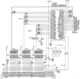 Hình 29b - Sơ đồ nguyên lý mạch điều khiển màn hình LVDS
