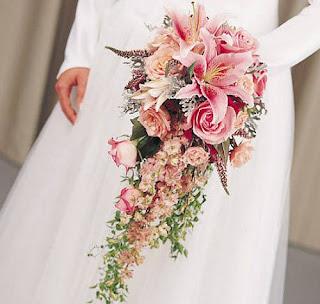 Bouquet em forma de cascata