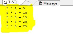Nested While Loop In SQL Server With Print Table Example ~ Guruji