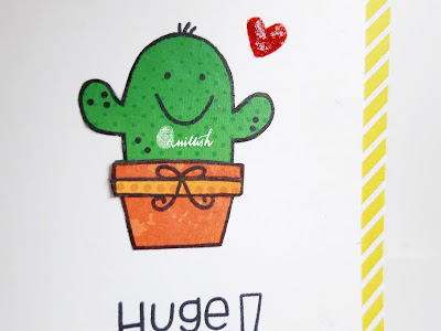 CAS card, Paper piecing, paper smooches, Quillish, Technique card, card by Ishani, Inspired by Loll , Cactus card, cactus stamp, Paper smooches comforting hugs, Huge hugs
