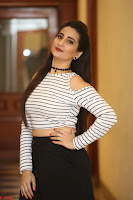 Manjusha in sleevelss crop top and black skirt at Darshakudu pre release ~  Exclusive Celebrities Galleries 094.JPG