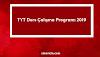 TYT Ders Çalışma Programı 2019