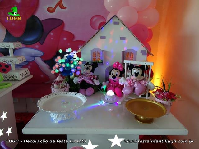 Mesa temática Minnie Rosa - Decoração para festa de aniversário infantil