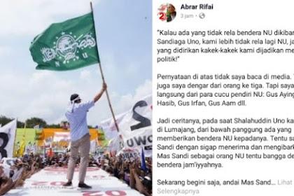 Cucu Pendiri NU Bela Sandi Soal Pengibaran Bendera NU, Kami Lebih tak Rela NU di Jadikan Mesin Politik