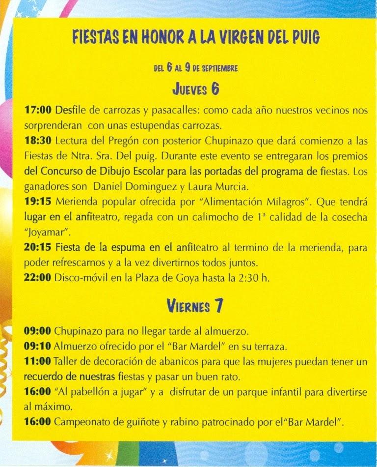 Peña Los Perdis Programa Fiestas Del Rosario