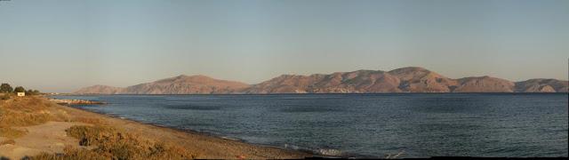 The Island of Hydra panoramic view