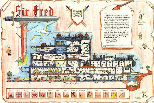 Mapa completo videojuego Sir Fred