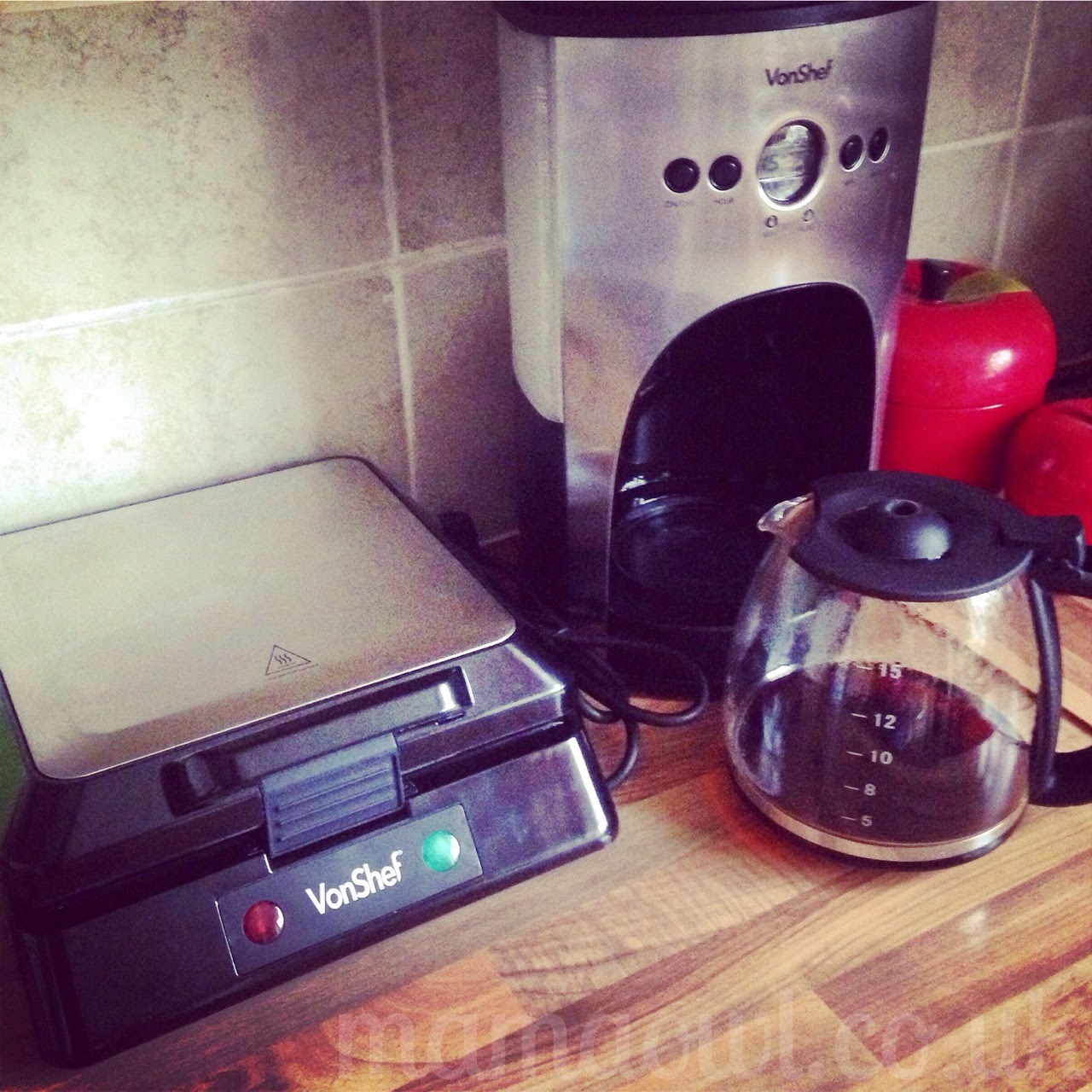 Mama Owl Blog Vonshef Coffee Machine And Waffle Maker Review